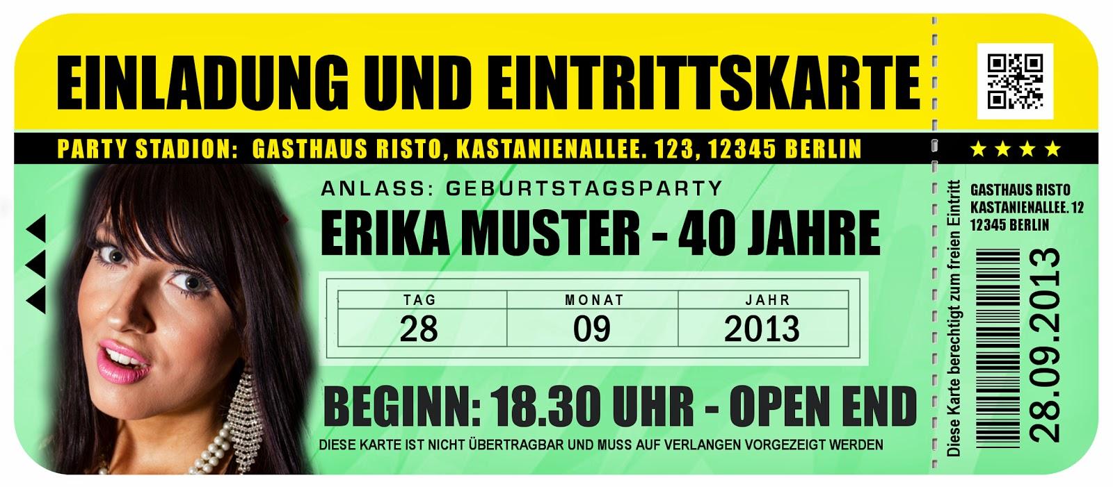 14. Lustige Einladungskarte Zum Geburtstag