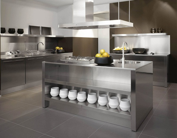 Modern Stainless Steel Kitchen Designs Durable