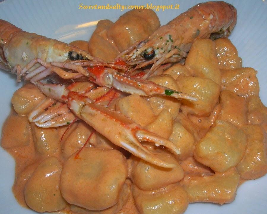 gnocchi di patate alla crema di scampi