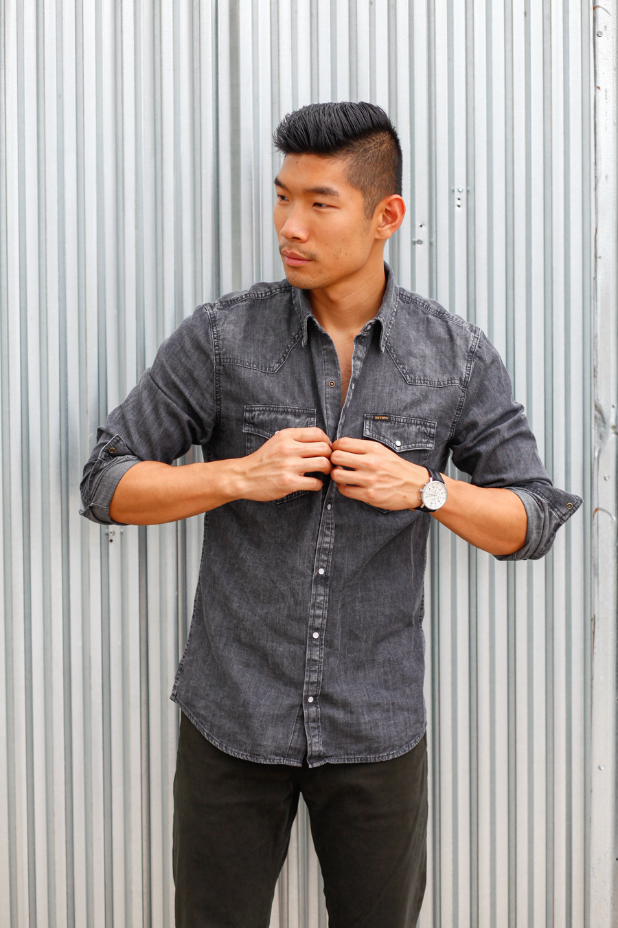 Levitate Style, Menswear, Weekend Casual Style, Big Star Denim Chambray Shirt and Jeans
