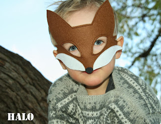 Sew felt fox mask