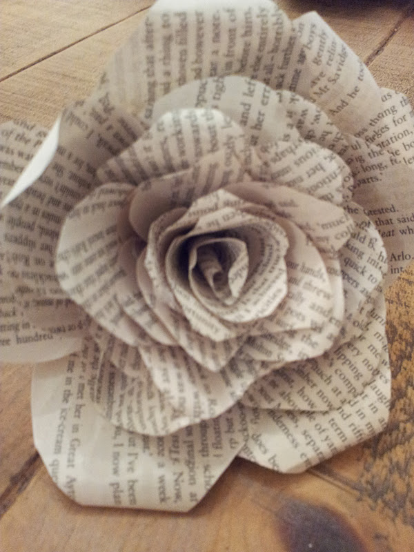 Book page roses tutorial twigg studios for How to make black roses