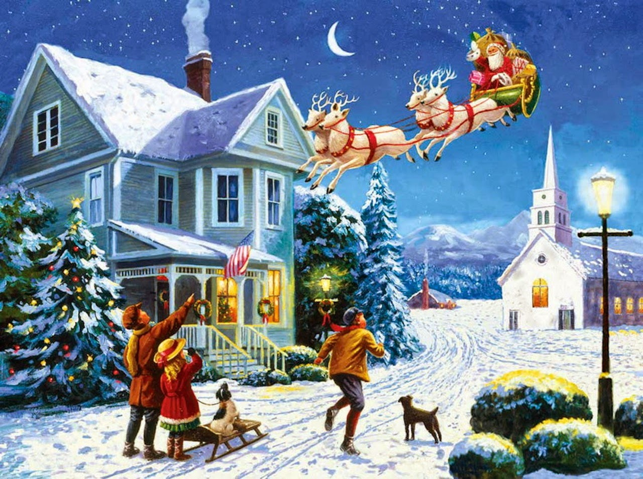 Santa-Arrival-to-snow-town-people-welcome-cartoon-drawing-image-picture-1280x954.jpg