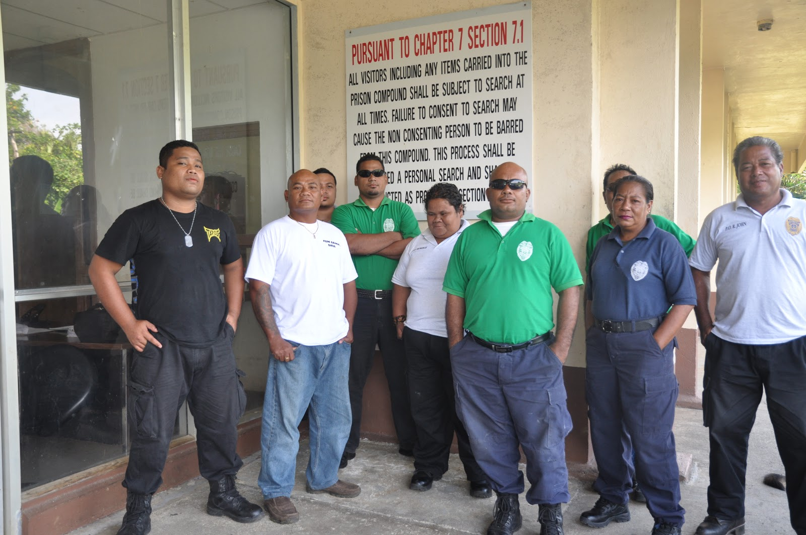 correction officers at the front of the correction center on december 25 2012
