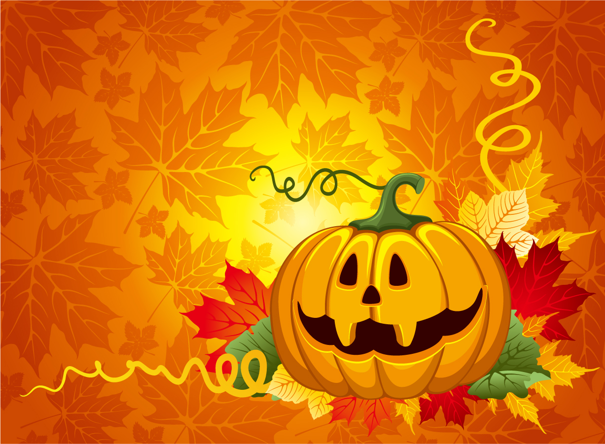 Free vector halloween pumpkin backgrounds - Image de halloween ...