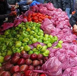 πλαστικές σακούλες στη λαική αγορά