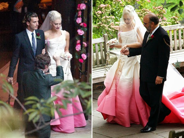 Gwen Stefani Wear Christian Dior Bridal Gowns At Her Wedding