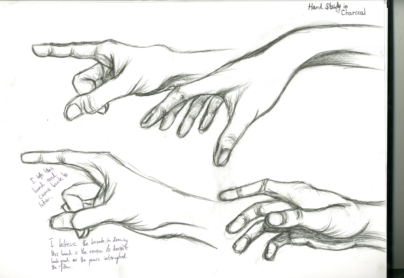hand practice drawing for animation
