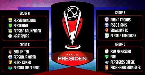 Jadwal Piala Presiden 2015 Siaran Langsung Indosiar, Klasemen Dan Hasil Skor Pertandingan
