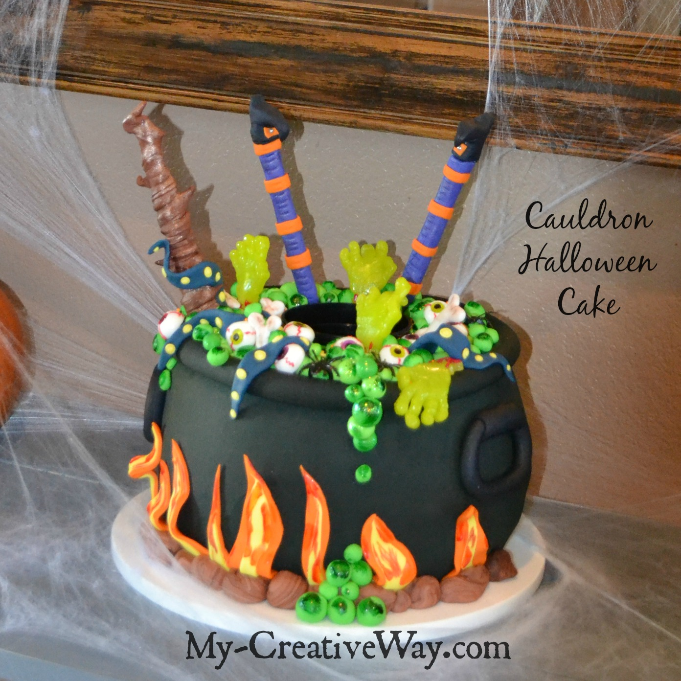 How To Make A Witches Brew Cake