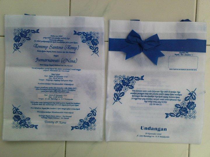 Undangan Pernikahan Khitan Dll Bentuk Tas