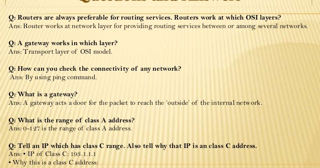 babluinfosys networking question with answer for an interview - Network Engineer Interview Questions And Answers
