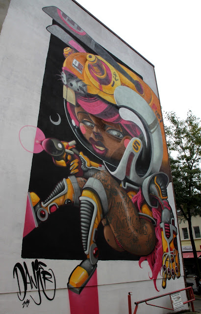 Street Art Mural By Danjer Mola For CityLeaks Urban Art Festival In Cologne, Germany. 7