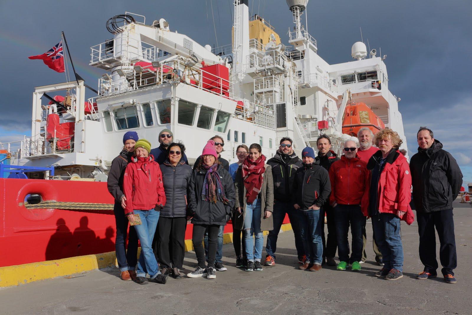 Equipe scientifique à bord