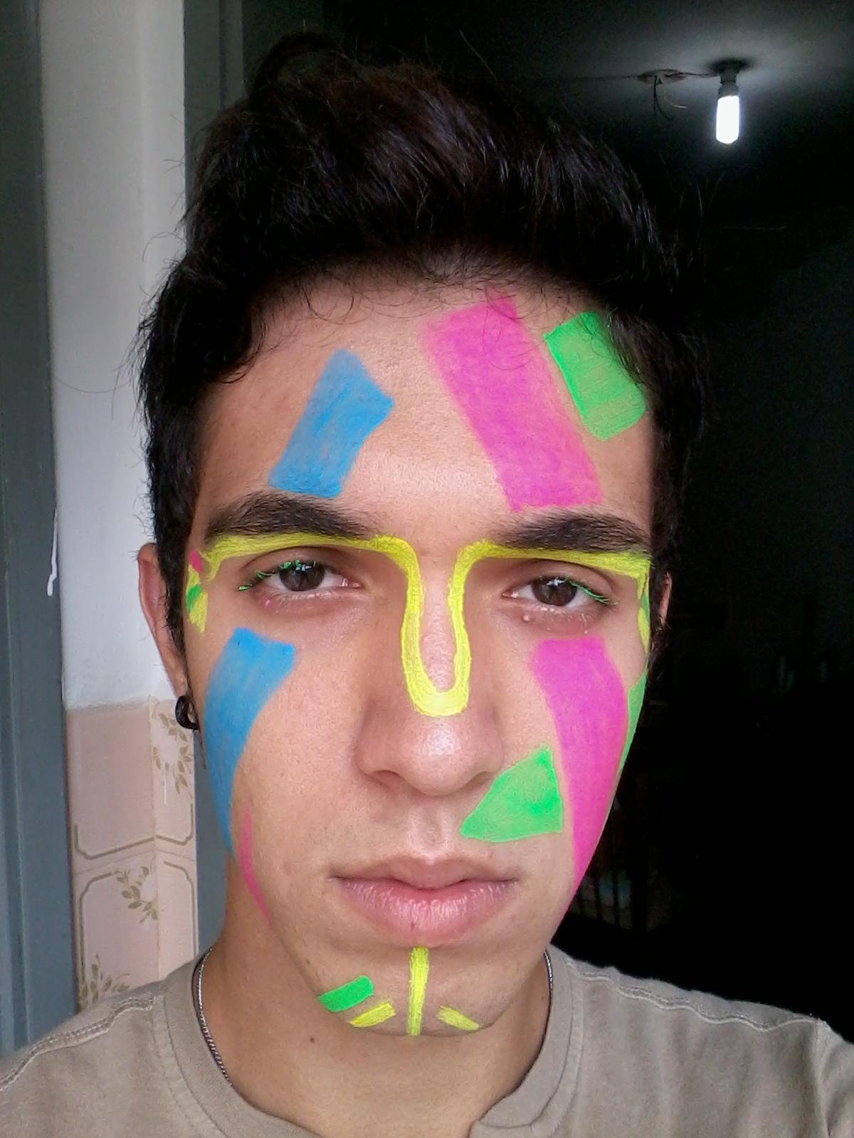 Muitas vezes Maquiagem Neon 1 MT98