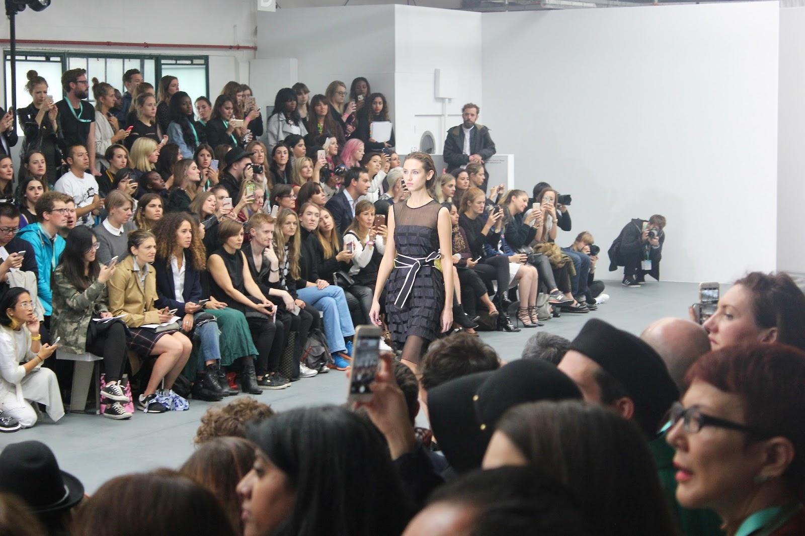 Georgie Minter-Brown, actress, blogger, london fashion week, SS16, designer, catwalk, christopher raeburn, BFC, clothes