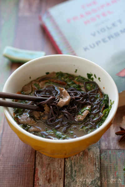 Beef Pho (Vietnamese Noodle Soup) inspired by The Frangipani Hotel - book tour and giveaway | www.girlichef.com