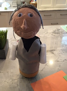 This Book Report Idea Is An A+  When Chris had to do extra credit for his book report of Walt Disney,  he chose to make a Recycle DIY Bottle Sculpture Craft of him, here's how!