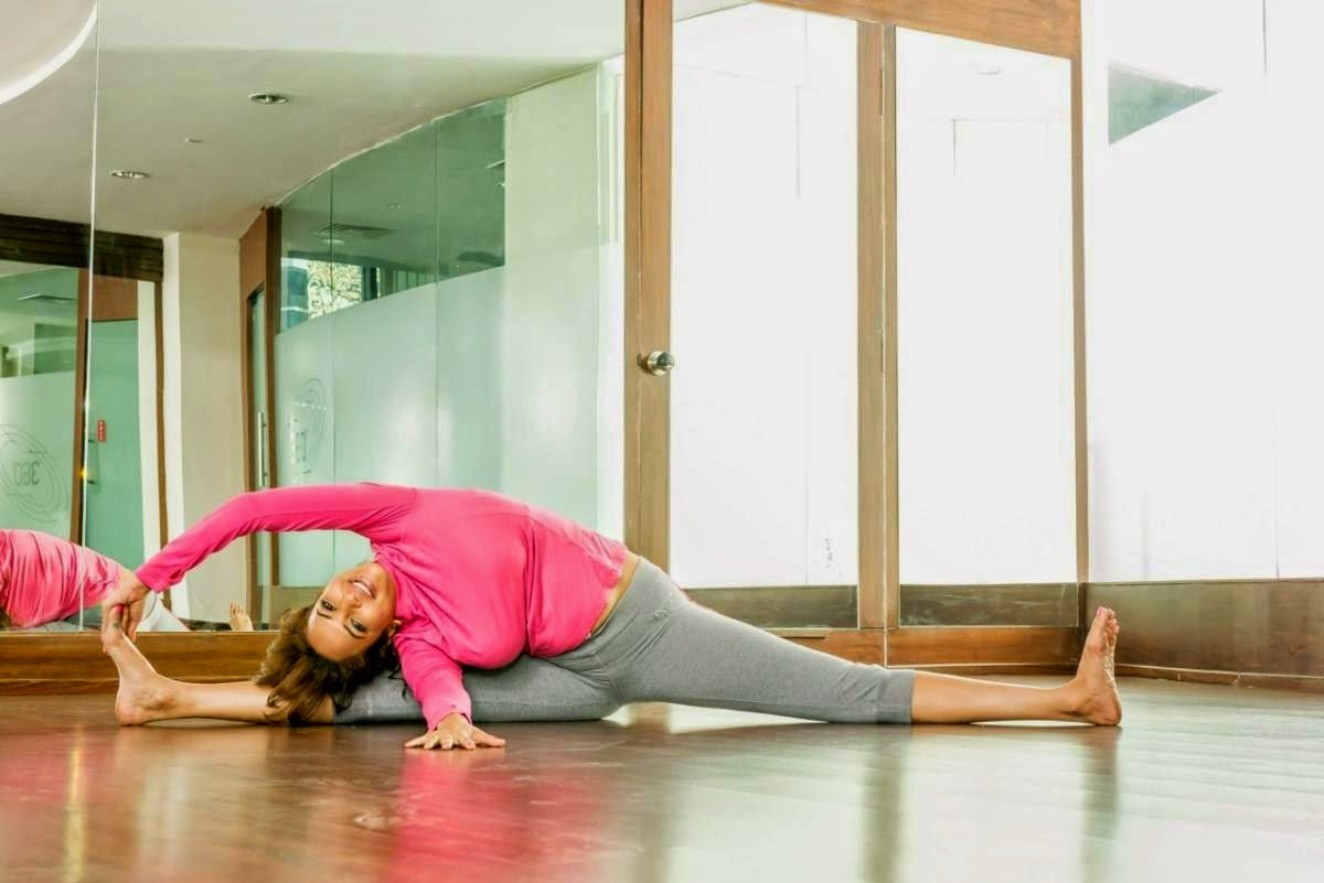 Manchu Lakshmi Hot Yoga Poses Tight Pants
