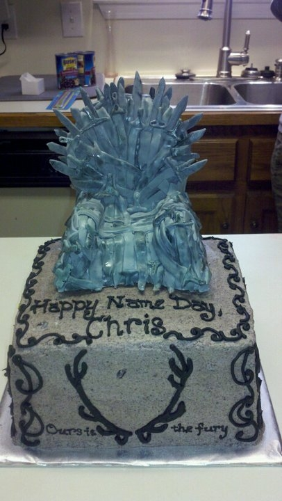This Cake Was Made By Audairymaid And Posted To Central Its A Cookies Cream Topped With Throne Of RKTs Fondant