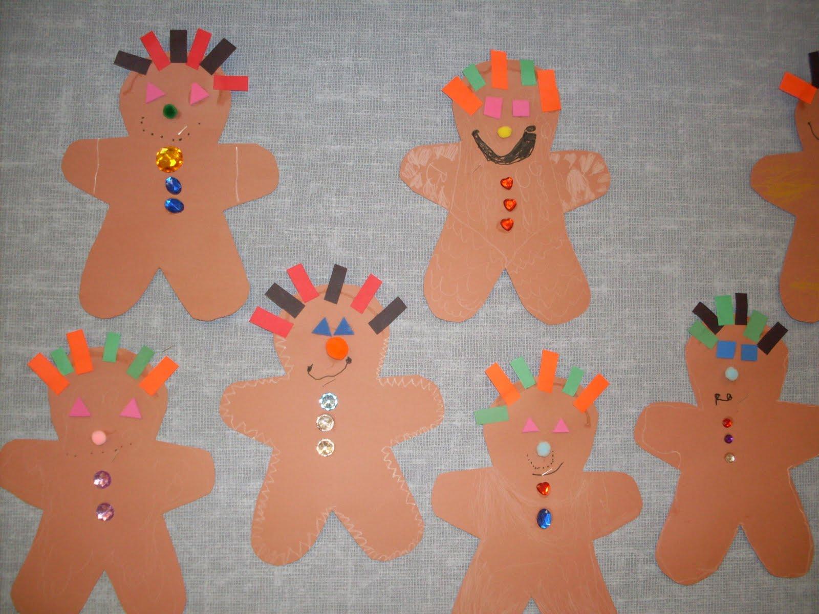 Kindergarten days gingerbread man for Gingerbread crafts for kindergarten