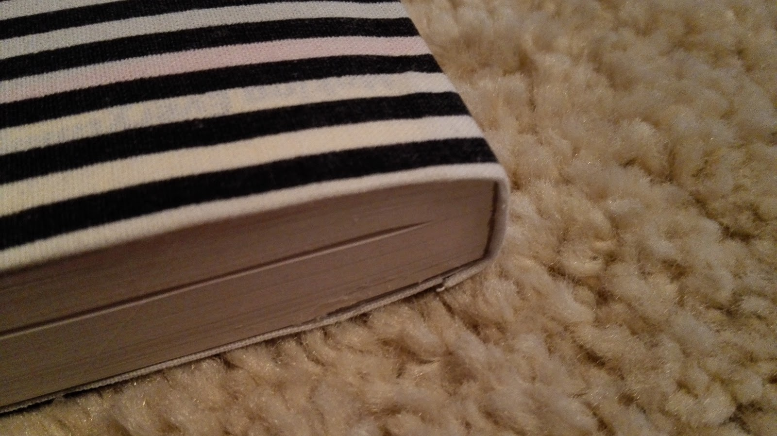 Really Cool Book Cover ~ Imaginary wardrobe easy fabric covered book diy