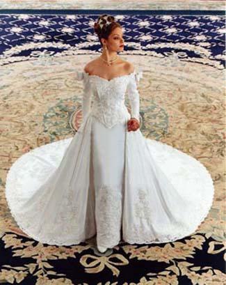 All Eco Fashion Detachable Train Wedding Gowns