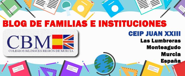Blog de familias e instituciones CEIP JUAN XXIII Las Lumbreras