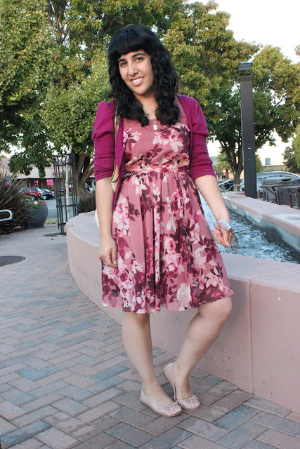Floral Dress and Cardigan