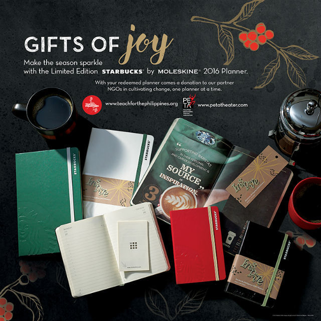 The Starbucks x Moleskine 2016 Planner: Collect Stickers Beginning November 2, 2015