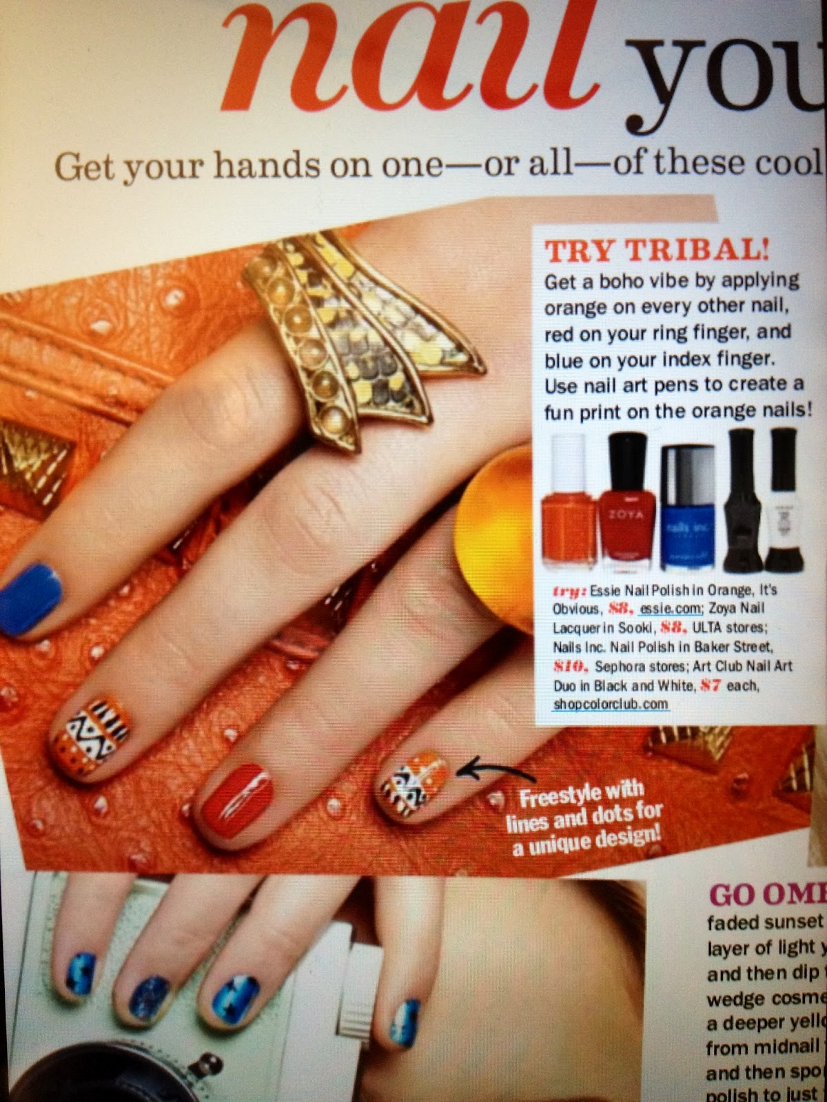 Ooh, Cute Nails!: Tribal Nails Inspired by Seventeen Magazine