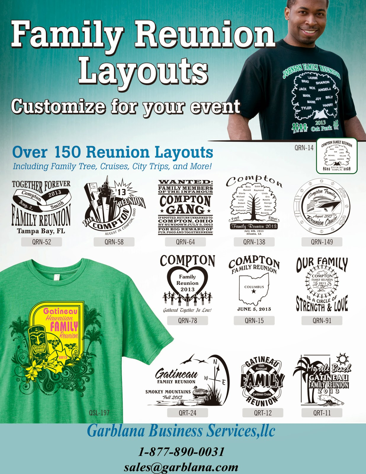 Custom printed tee shirts for Printed t shirts for family reunion