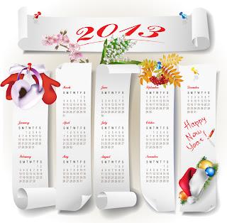 新年のカレンダー テンプレート 2013 new year calendar templates イラスト素材4