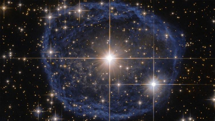 Enorme 'burbuja azul' en el espacio