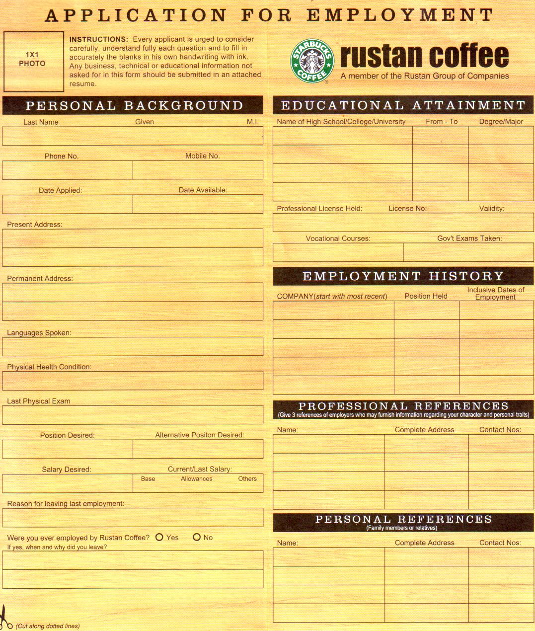 Starbucks Barista Application