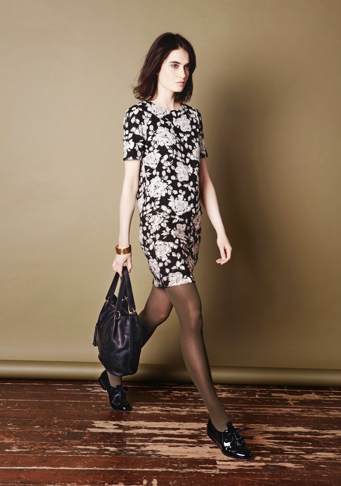 PHASE EIGHT MARCIE FLORAL SHELL TOP, MARCIE FLORAL SKIRT, LIZZY BUCKET BAG