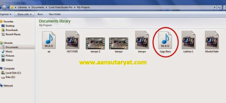 Langkah-langkah Membuat Sound File Menggunakan Corel Video Studio Pro X6 Part.1