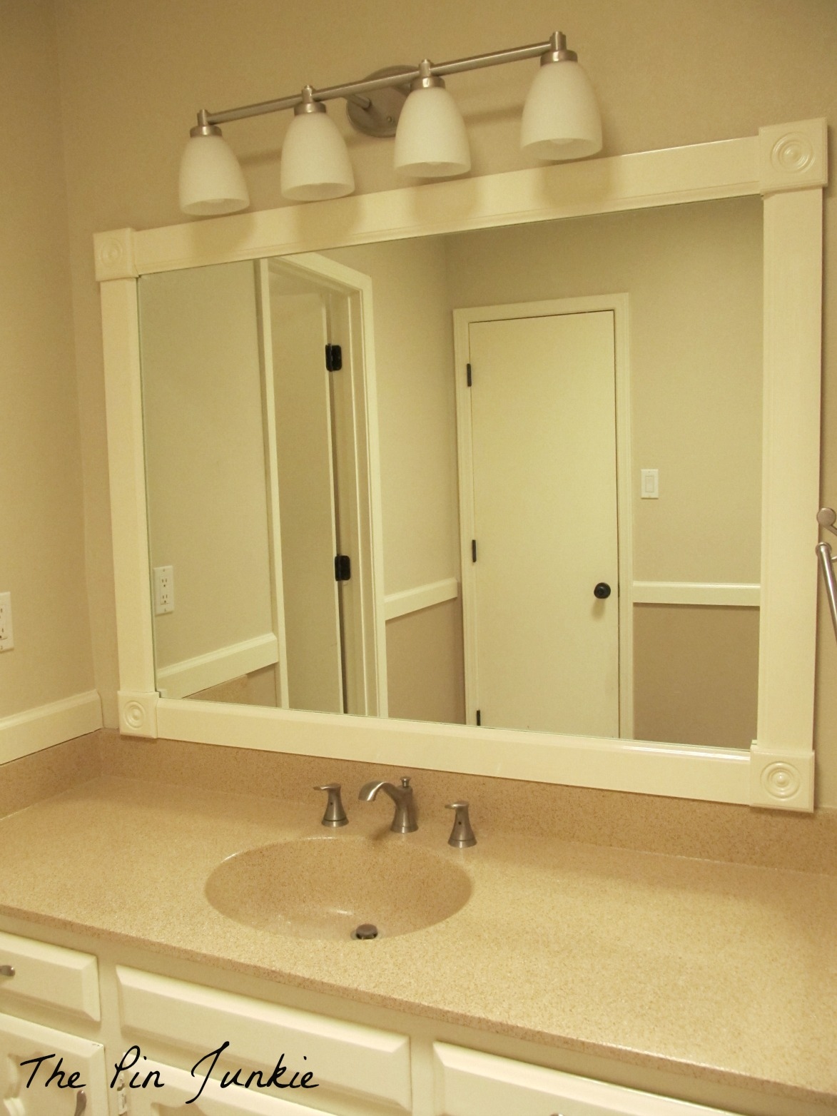 The Pin Junkie How to Frame a Bathroom Mirror