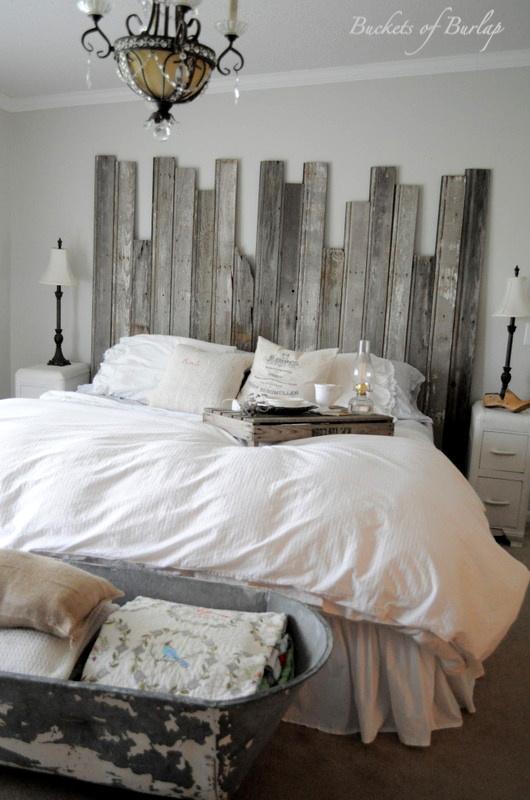 Remodelaholic | Master Bedroom With DIY Rustic Barn Wood ...