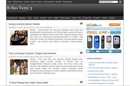 B-Seo Versi 3 Blogger Template Seo Friendly