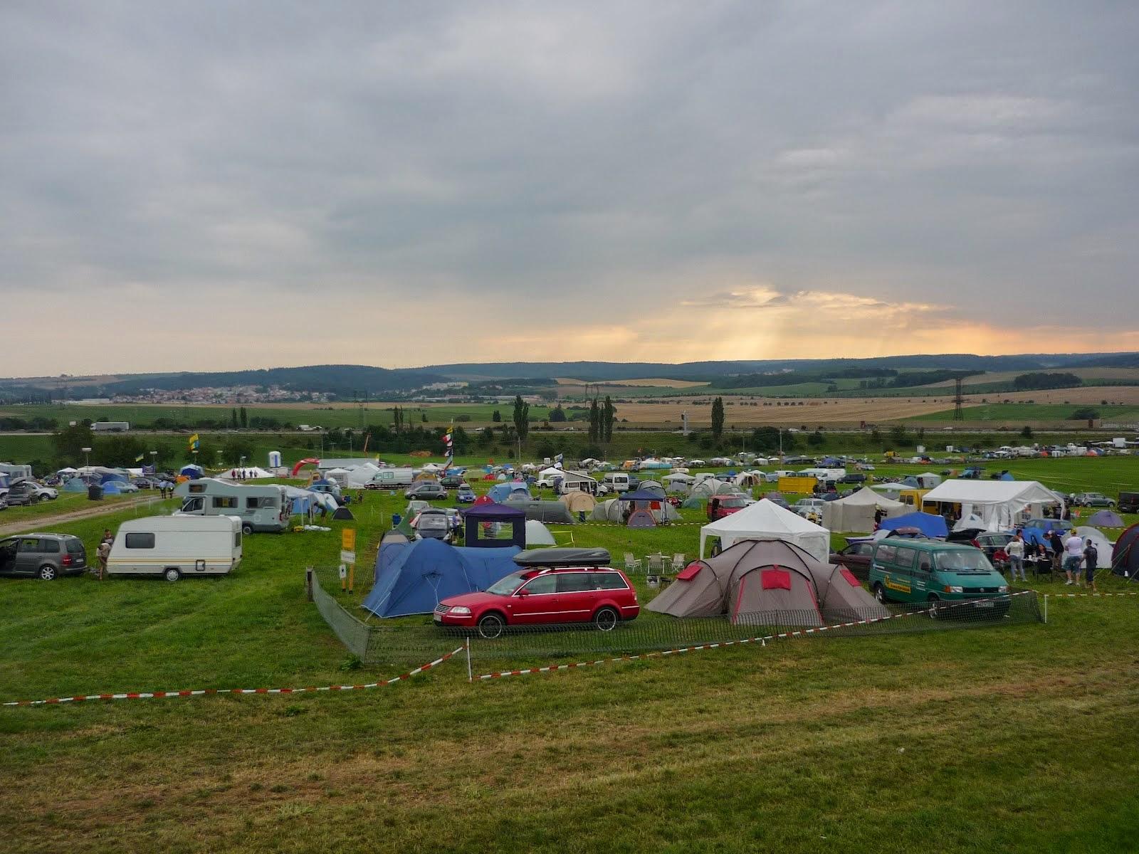 zona de acampada en el circuito de brno