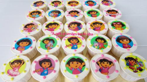 Birthday Cupcake Edible Image Dora