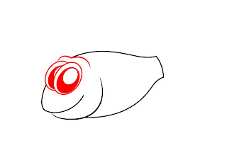 How To Draw A Cartoon Fish Step 2