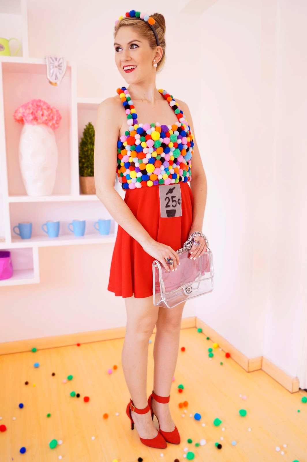 The joy of fashion halloween homemade gumball machine costume click through for this and many other easy homemade hallowen costume ideas solutioingenieria