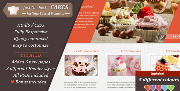 Template free themeforest justcakes responsive html5 for bakery justcakes responsive html5 forumfinder Choice Image