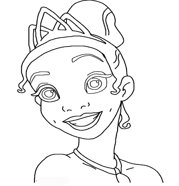 Disney Princess Tiana Coloring Pages for Girls