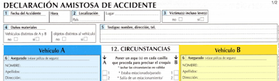 Declaración amistosa de accidente