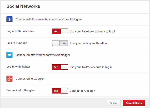 Connect Other Social Networks