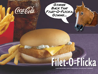 funny horsemeat funny horse meat McDonalds filet-o-flicka