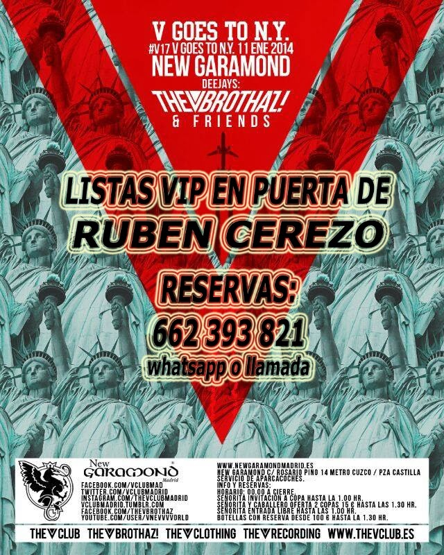 "NEW GARAMOND SÁBADO, 11 DE ENERO: ""V17"" GOES TO N.Y. - THE V BROTHAZ"